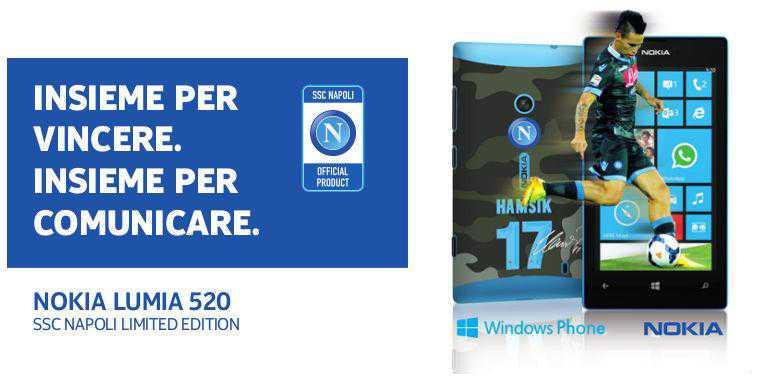 Nokia e SSC Napoli presentano tre Lumia 520 in edizione limitata!