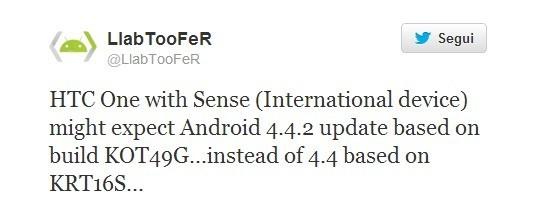 HTC One 4.4.2-kitkat