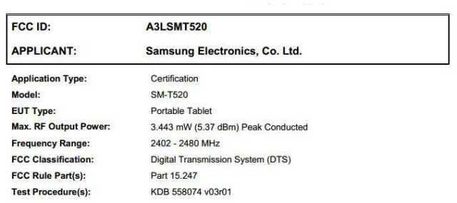 Samsung SM-T520