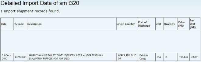 Galaxy Tab 8.4 Pro SM-T320 appare al FCC