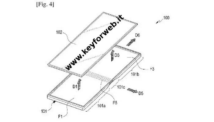 Samsung Galaxy X, nuove immagini del brevetto mostrano il