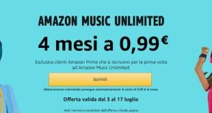 Amazon offre la musica a 0,99€ ai clienti Prime per 4 mesi
