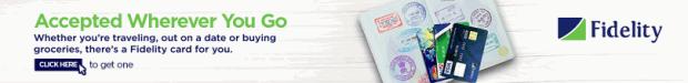 Fidelity bank card banner