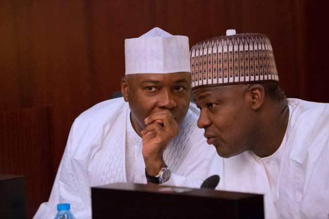 •Senate president Bukola Saraki and Speaker Yakubu Dogara