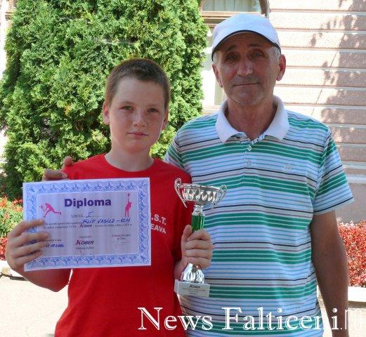 Falticeni-Vasile Filip si antrenorul Marcel Dascalu