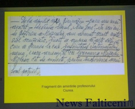 Falticeni-Fragmente din amintirile profesorului Ciurea