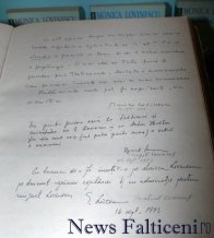 Falticeni-text Monica Lovinescu in Cartea de onoare a Galeriei Oamenilor de Seama
