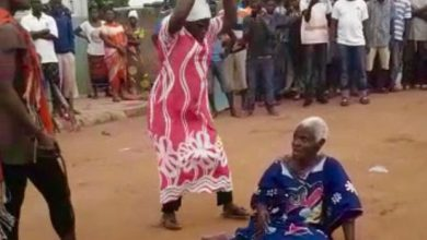 Photo of Wicked Ghanaian Villagers Lynch 90 Year Old Woman Over Witchcraft to Death -Photos