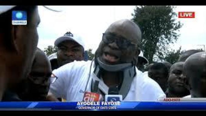 Ekiti Election: Fayose Cries Out Again, Drags APC, Buhari And Police To International Communities, See What He's Accusing Police Of Doing To Ekiti People Today