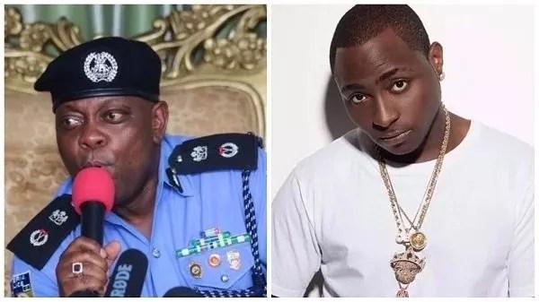 breaking davido father send policemen