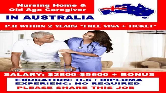 australia caregiver offers nursing home