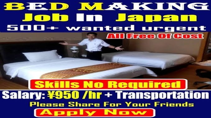 japan offers foreigners bed making jobs