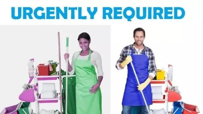 18 usd per hour housekeeping job