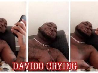 davido cries out