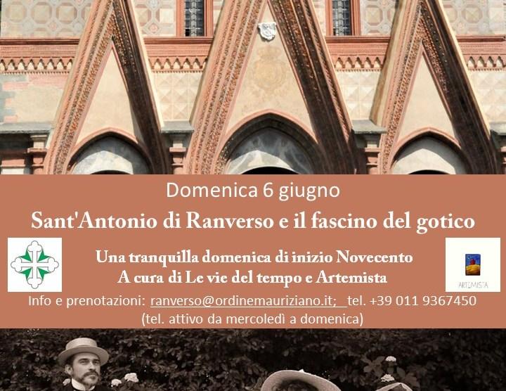 Sant'Antonio di Ranverso e il fascino del gotico. Una tranquilla domenica di inizio Novecento.