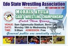 Nigerian Pro Wrestling Legend Morris Atula Sponsors Amateur Wrestling Championship in Edo State