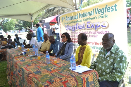 Members of the high table present during the Vegfest Expo event