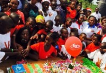 Food and sanitary items, water and other items presented to the orphanage by Tatas and Friends