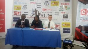 Organisers of the event addressing the media