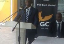 Mr Socrates Affram, Chief Finance Officer addressing the customers