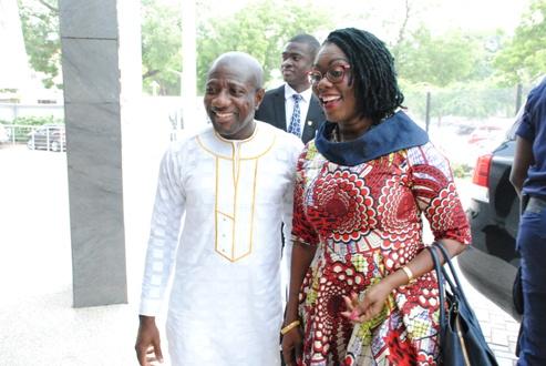 1. CEO EBENEZER ASANTE WELCOMES MRS OWUSU- EKUFUL TO MTN HOUSE