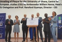 Unveiling of Plague for Legon Centre for European Studies
