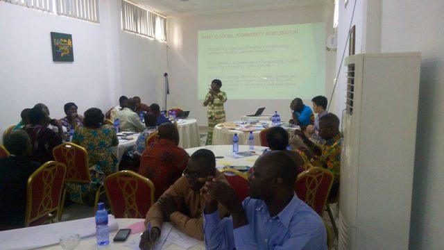 Mrs. Georgina Amidu speaking at the workshop