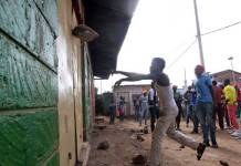 Kenyan opposition gangs loot stores in Nairobi township of Kawangware aimed at disrupting East Africa's largest economy