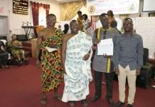 left: Professor Joseph Mensah, Dr. David Firang, Fredrick Gyamfi and Stephen Firang