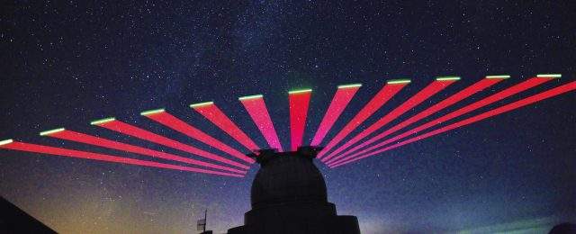 Xinglong Observatory of the National Astronomical Observatories interacts with Mozi quantum satellite. (Photo by Micro-satellite Innovation Institute of Chinese Academy of Sciences)