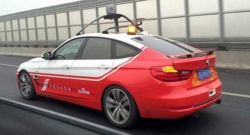 Baidu tests autopilot car. (Photo from Baidu)