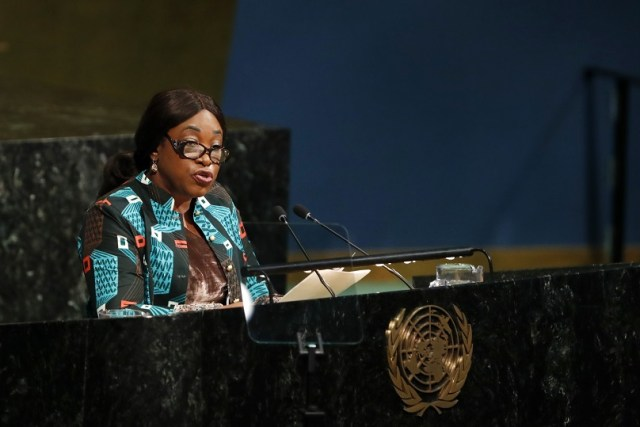 Ghana's Foreign Minister Shirley Ayorkor Botchwey addresses the High-Level Meeting on Peacebuilding and Sustaining Peace at the UN headquarters in New York, April 24, 2018. UN General Assembly's High-Level Meeting on Peacebuilding and Sustaining Peace kicked here on Tuesday and is to run through Wednesday. (Xinhua/Li Muzi)