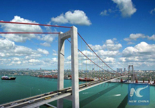 Architectural design of Maputo-Catembe Bridge. (Photo provided by CRBC)