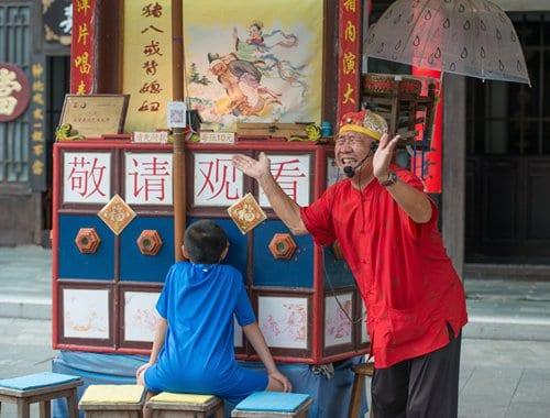 A la yang pian show in Guangdong Province Photo: IC