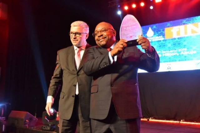 Mr. Inuwa, MD NNPC Trading, FIN Oil & Gas Outstanding Personality Award, and FIN CEO, Michael Dragoyevich.
