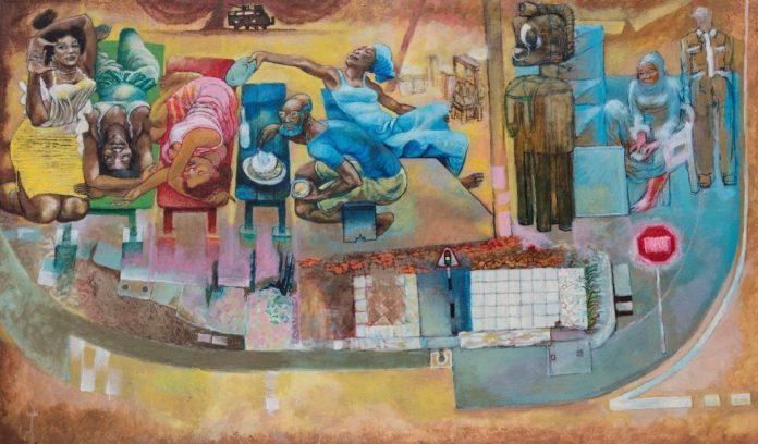 Galle Winston Kofi Dawson (2019), Acrylic on Canvas.