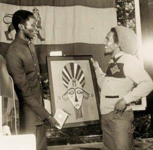 The Reggae Maestro Receiving The Un Peace Medal In