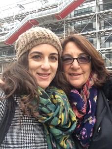 Selfie outside the Pompidou