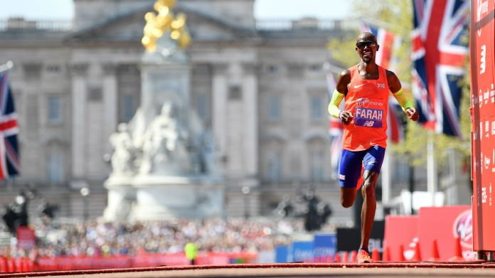 British athlete Mo Farah finished third in the 2018 London Marathon