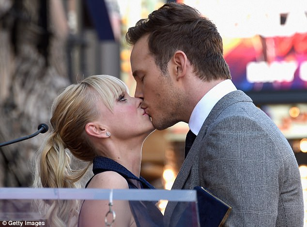 Proud moment: Chris Pratt was joined by his wife Anna Faris as he was honored with a star on the Hollywood Walk of Fame
