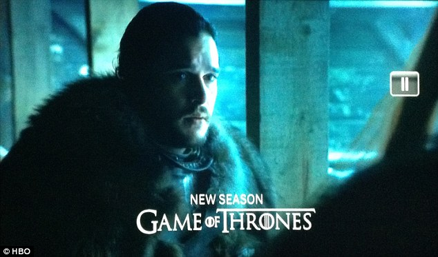 Winter is here: A mournful Jon Snow, played byKit Harington, is deep in conversation in one of the shots from Season 7 of Game Of Thrones that HBO shared in a teaser on Sunday