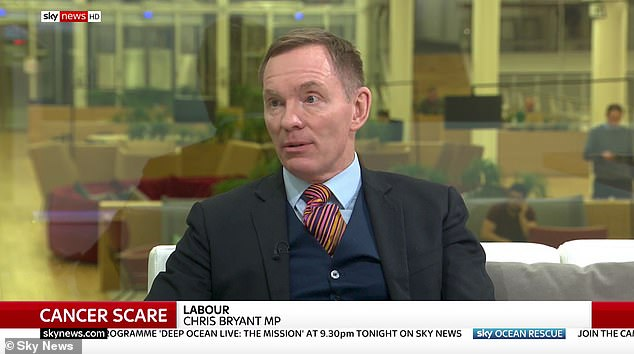 Labour MP Chris Bryant fights through tears while discussing his