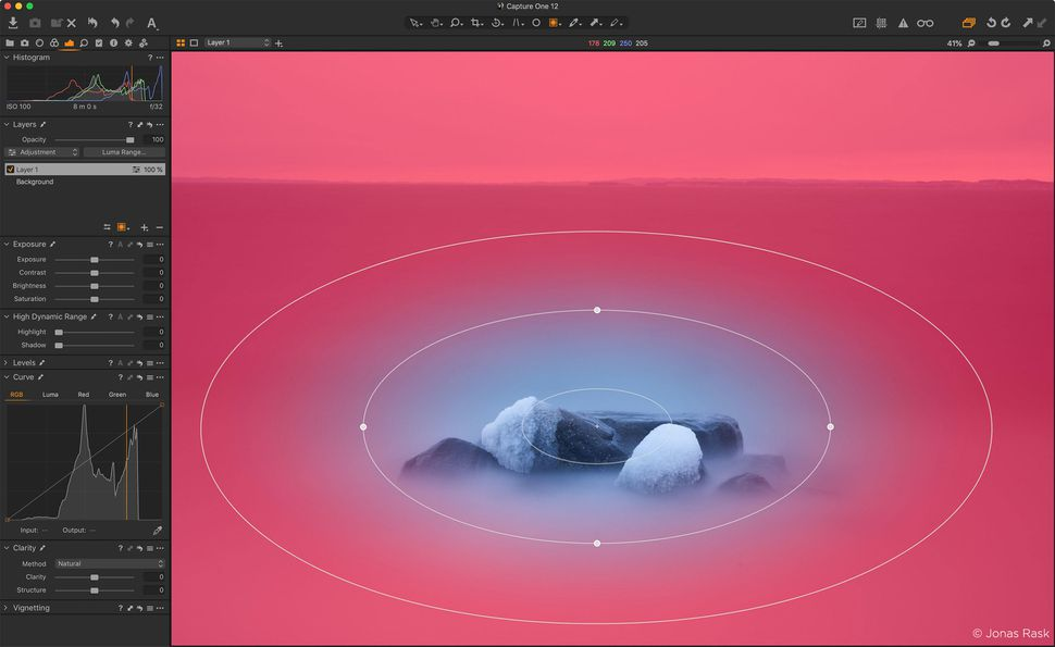 Phase One's Capture One 12 now can isolate edits to an area selected with an elliptical gradient.