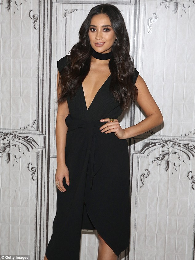 Wardrobe change: The Pretty Little Liars star, 29, filled in for Kelly Ripa on Live! earlier in the day, and then swapped her duds for this sexy black number