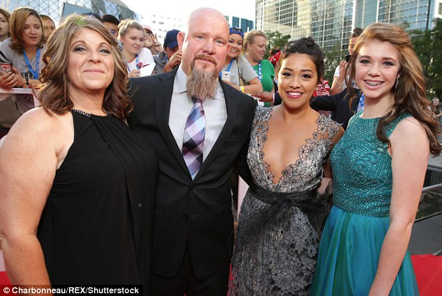 O Canada! : Gina (second from right) - with (left to right) Felicia Williams, Mike Williams and Sydney Williams at the Deepwater Horizon premiere in Toronto last September