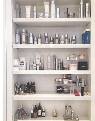 But why bother when she has a bathroom cabinet full of dozens of expensive lotions and potions?