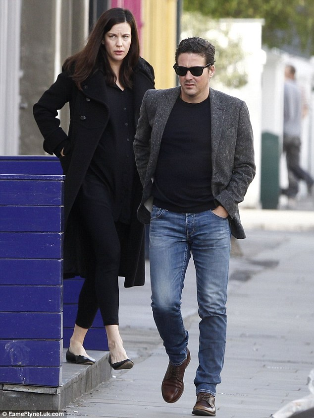 London move: Liv recently revealed her plans to permanently move to the UK in September  to be with her future husband, Dave Gardner. In January the engaged pair (photographed in London last week) announced that they were expecting a second child together