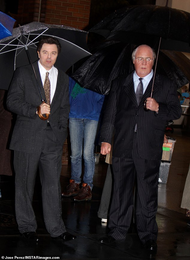 Co-star: He was joined by Seth MacFarlane for a few scenes