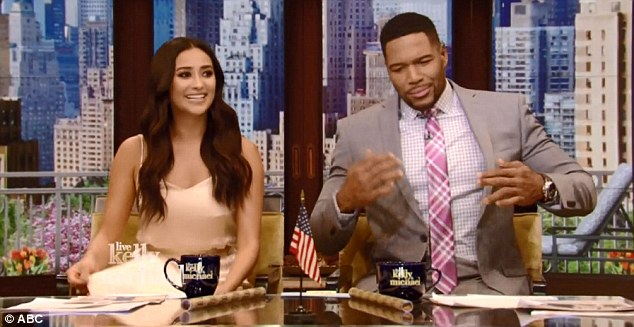 Filling in:The Los Angeles-based actress had a busy schedule while in New York. Shay began her day in Kelly Ripa's hosting seat next to Michael Strahan on Live! with Kelly and Michael Monday