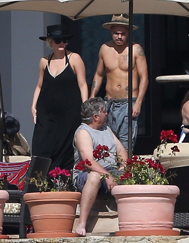 Vacation: Ashlee Simpson and her husband Evan were seen enjoying some relaxation time with the singer's sister Jessica in Cabo San Lucas, Mexico on Sunday